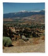 On The Road To Virginia City Nevada 20 Fleece Blanket