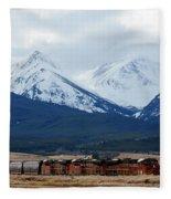 On The Rocky Mountain Front Fleece Blanket