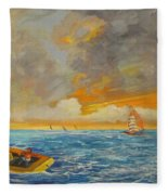 On The Sea Fleece Blanket