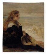 On The Seashore Fleece Blanket