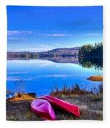 On The Shore Of Seventh Lake Fleece Blanket