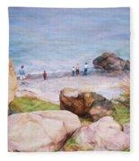 On The Shore Of The Ocean Fleece Blanket