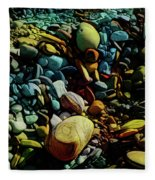 On The Shores Of My Imagination Fleece Blanket
