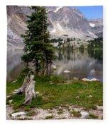 On The Snowy Mountain Loop Fleece Blanket