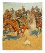On The Southern Plains Frederic Remington Fleece Blanket