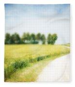 On The Way Through The Summer Fleece Blanket