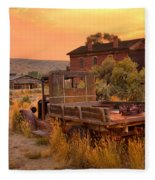 On The Way To Town Fleece Blanket