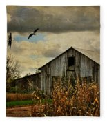On The Wings Of Change Fleece Blanket