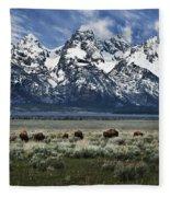 On To Greener Pastures Fleece Blanket