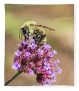 On Top Of The World - Bee Style Fleece Blanket