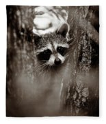 On Watch - Sepia Fleece Blanket