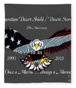 Once A Marine Fleece Blanket