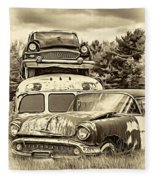 Once Shiny Dreams - Sepia Fleece Blanket