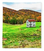 Once Upon A Mountainside 2 - Paint Fleece Blanket