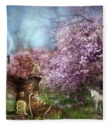 Once Upon A Springtime Fleece Blanket