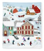 Once Upon A Winter Fleece Blanket