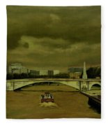Oncoming Storm Paris France Fleece Blanket