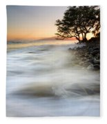 One Against The Tides Fleece Blanket