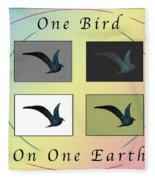 One Bird Poster And Greeting Card V1 Fleece Blanket
