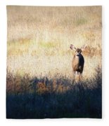 One Cute Deer Fleece Blanket