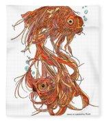 One Fish Two Fish Fleece Blanket