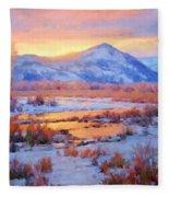 One Last Winters Eve Fleece Blanket