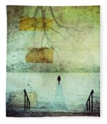 One Man In The Winter Of His Life Fleece Blanket