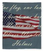 One Nation Fleece Blanket