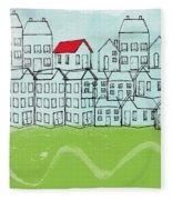 One Red Roof Fleece Blanket
