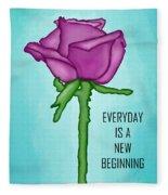 One Rose Everyday Fleece Blanket