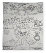 One Thru Nine Drawing Fleece Blanket