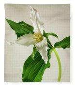 One Trillium Fleece Blanket