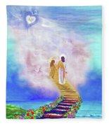 One Way To God Fleece Blanket
