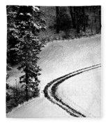 One Way - Winter In Switzerland Fleece Blanket