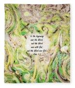 One Wish - Verse Fleece Blanket