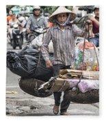 One Woman Street Life Hanoi Fleece Blanket