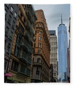One World Trade Center New York Ny From Nassau Street Fleece Blanket