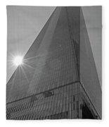 One World Trade Center New York Ny Sunset Black And White Fleece Blanket