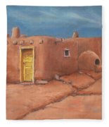 One Yellow Door Fleece Blanket
