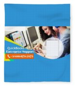 Online Support Phone Number For Quickbooks Enterprise Fleece Blanket