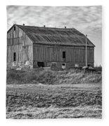 Ontario Farm 4 Bw Fleece Blanket