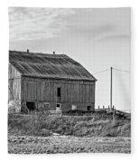 Ontario Farm 5 Bw Fleece Blanket