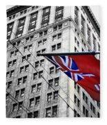 Ontario Flag Fleece Blanket
