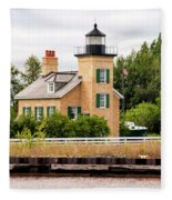 Ontonagon Lighthouse Fleece Blanket