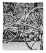 Oo Wagon Wheels Black And White Fleece Blanket
