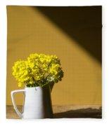 Good Morning Sunshine- Rapeseed Flowers And White Mug   Fleece Blanket