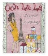 Ooh La La Fleece Blanket