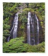 Opaekaa Falls - Kauai Fleece Blanket