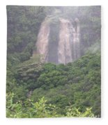 Opaekaa Falls On Kauai During A Storm Fleece Blanket