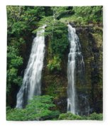Opaekaa Waterfall Fleece Blanket